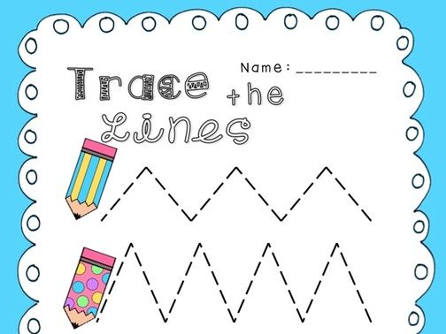 Zigzag Prewriting Activity