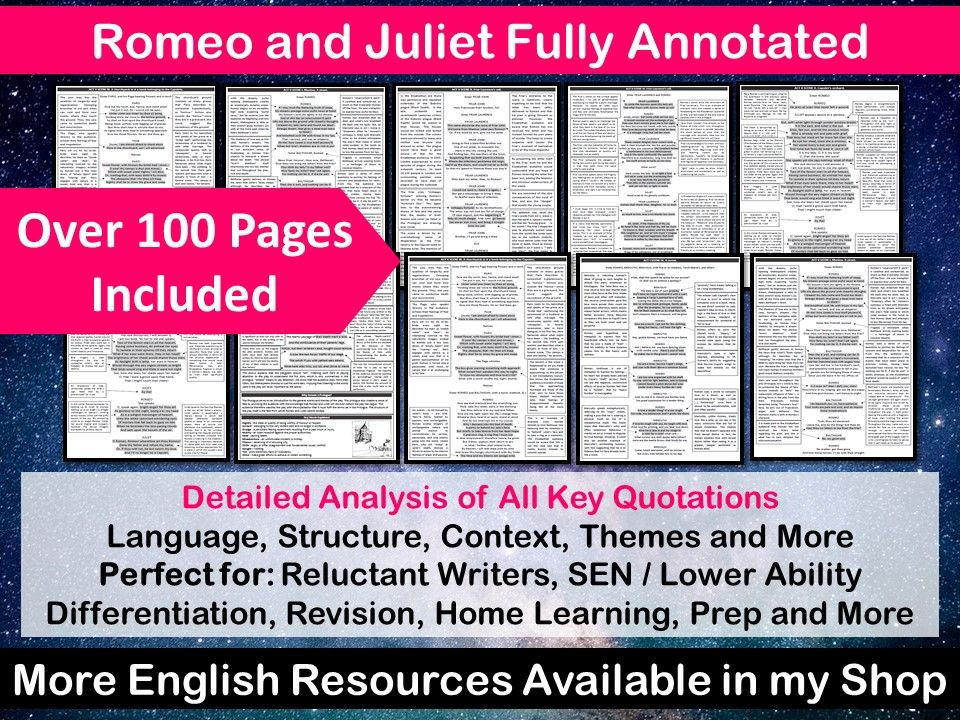 Romeo and Juliet Fully Annotated