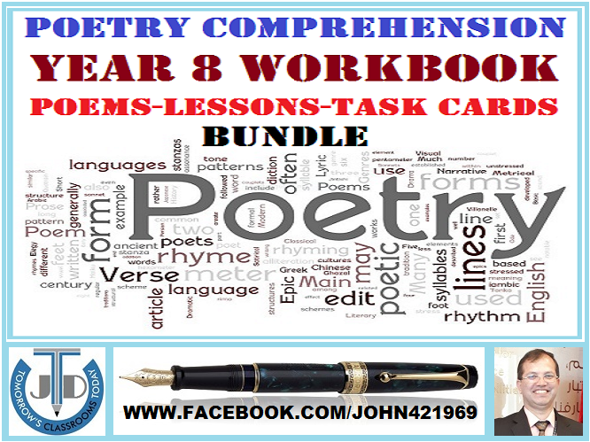 POETRY COMPREHENSION - GRADE 8 WORKBOOK: BUNDLE