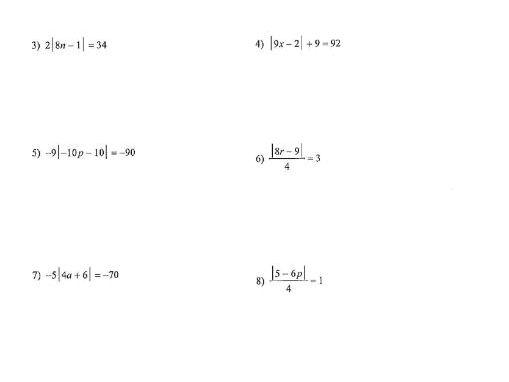 Solving Modulus Equations