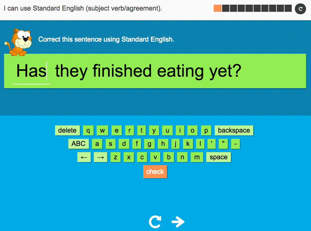 I can use Standard English (correct verb form) - Interactive Activity - Year 4 Spag