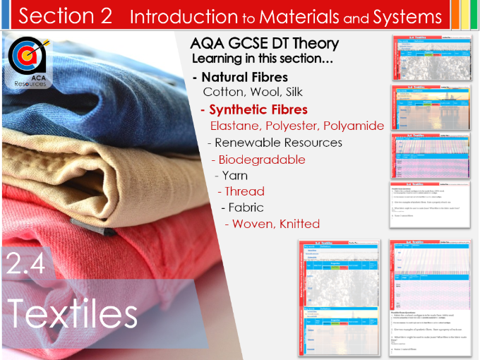 AQA GCSE DT 2.4 Textiles