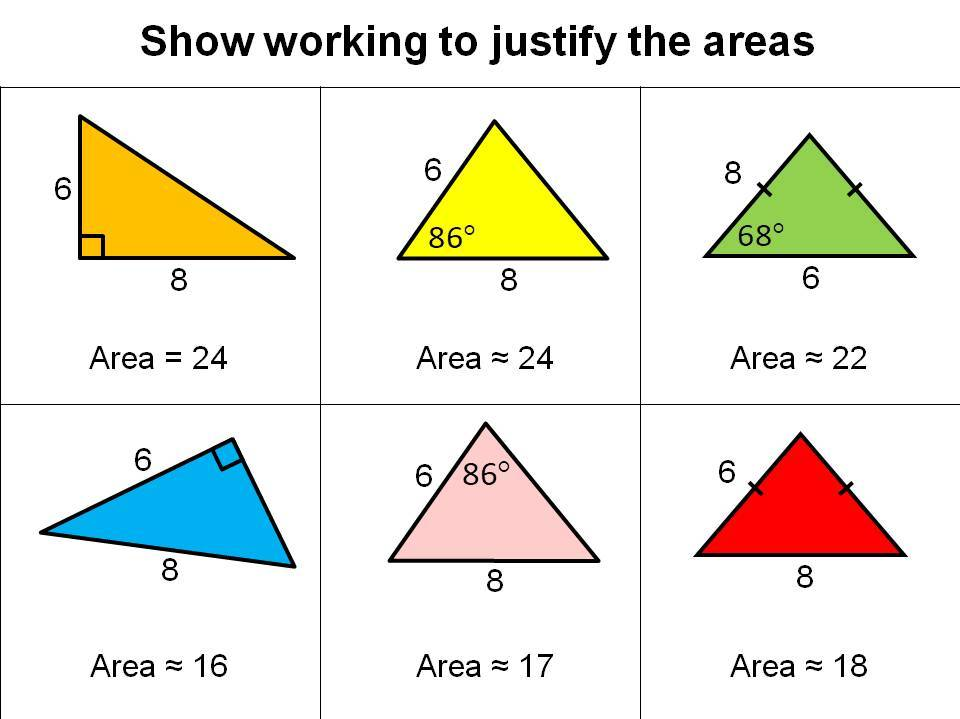 Triangle area activity