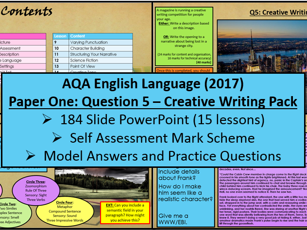 aqa creative writing gcse 2016-8-30  paper 1 explorations in creative reading and writing mark scheme 8700 version 3  2 mark scheme – gcse english language  aqa gcse.
