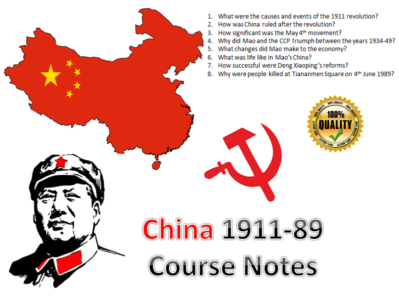 C20th China Entire Course Notes - 43 pages