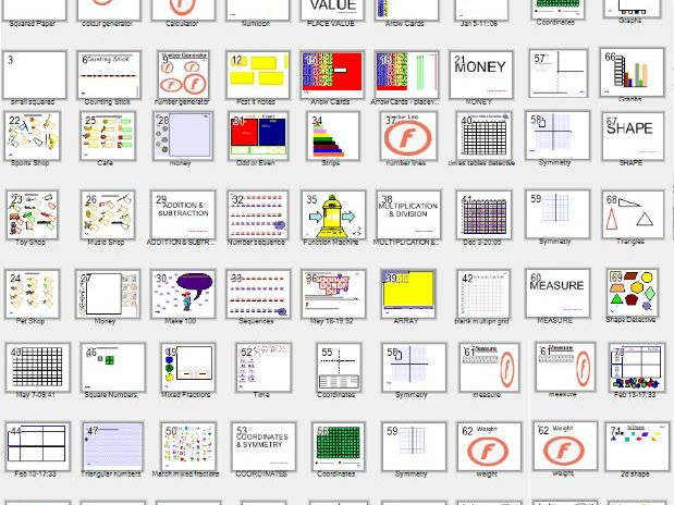 All-in-One Interactive  Smartboard Maths resources