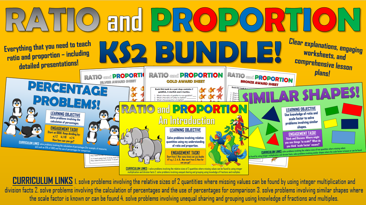 Ratio and Proportion KS2 Bundle!