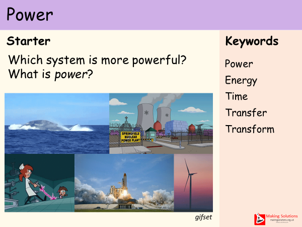 AQA Chapter 1 - Lesson 6 - Power