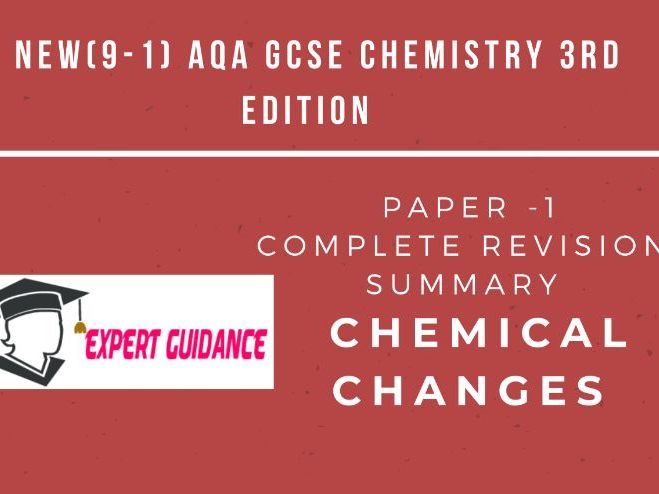 New (9-1) AQA GCSE Chemistry C6  Electrolysis Complete Revision Summary