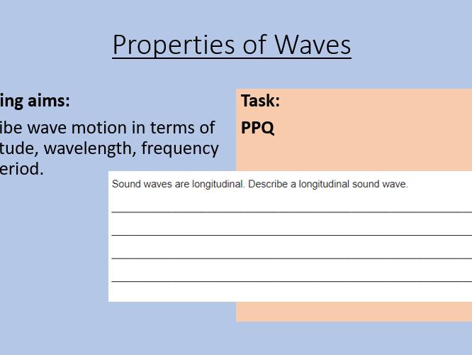 AQA P12.2 Properties of Waves