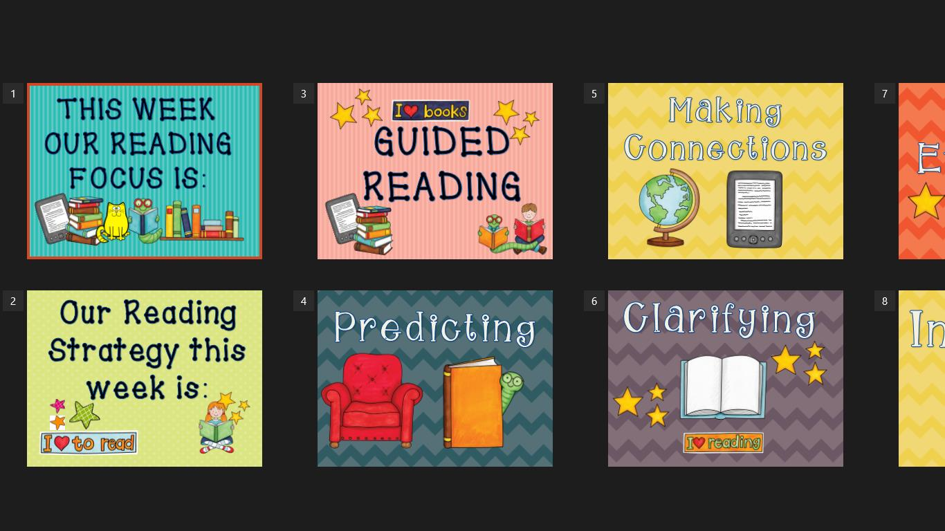 BOOK CORNER- GUIDED READING Posters