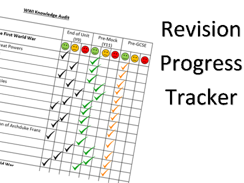 WWI Revision Progress Tracker