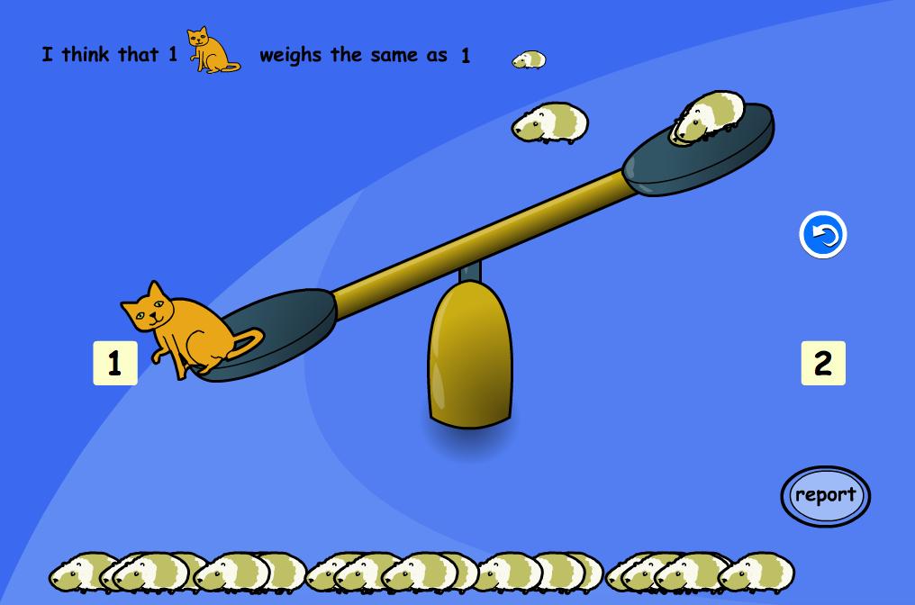 Compare Animal Weight Interactive Activity - KS1 Measurement