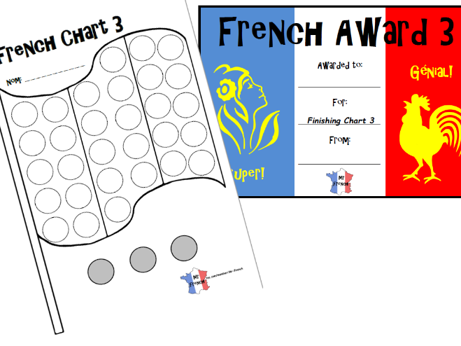 French Chart Level 3 and French Award 3