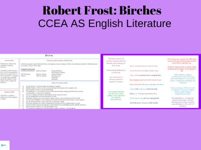 Robert Frost: Birches CCEA AS English Literature