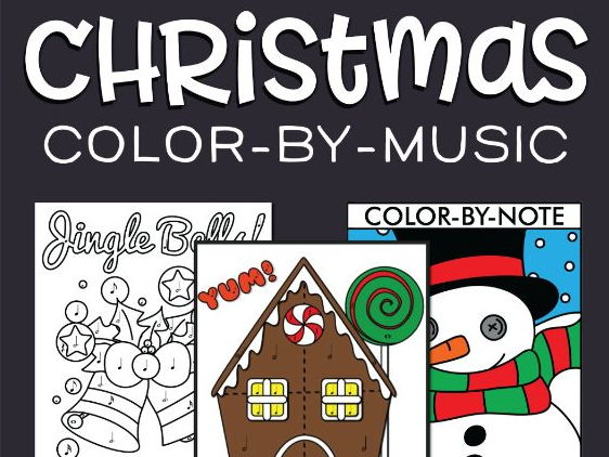 Christmas Color-By-Note Worksheets