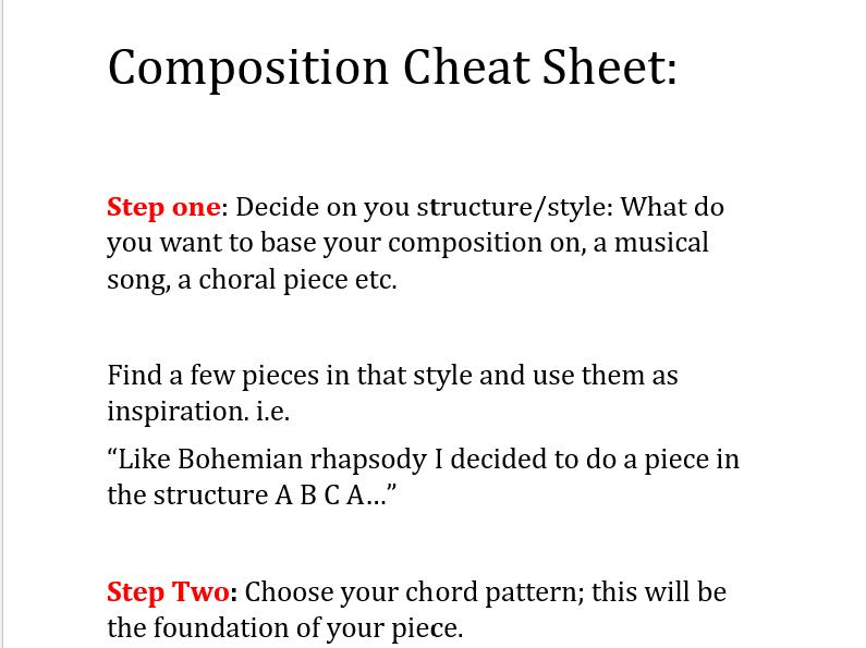 GCSE Composition Cheat Sheet