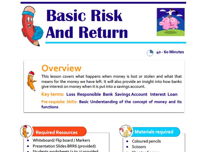 Basic Risk and Return Lesson Plan for KS1