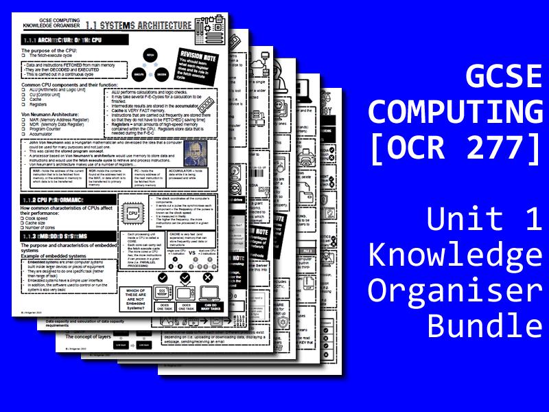 GCSE Computing Knowledge Organiser Bundle #1