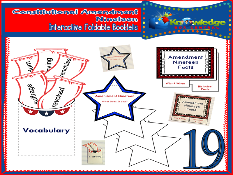 Constitutional Amendment Nineteen Interactive Foldable Booklets