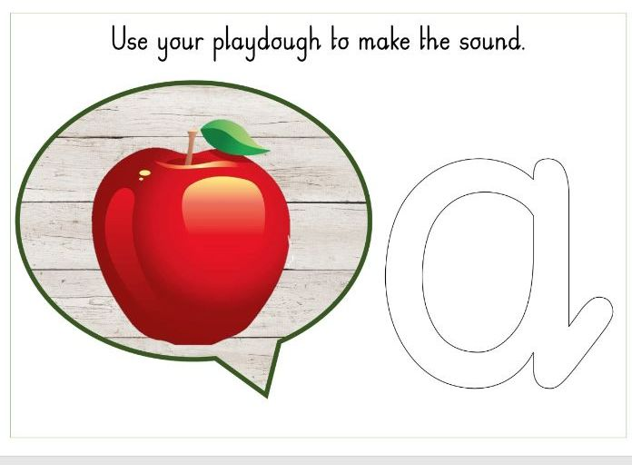 Phase 2 sounds playdough mat