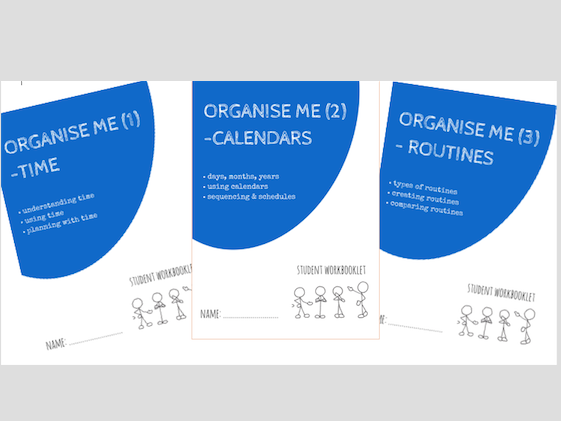 ORGANISE ME bundle - x3 workbooklets