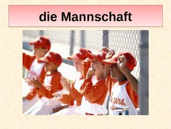 Sportarten (Sports in German) Power point