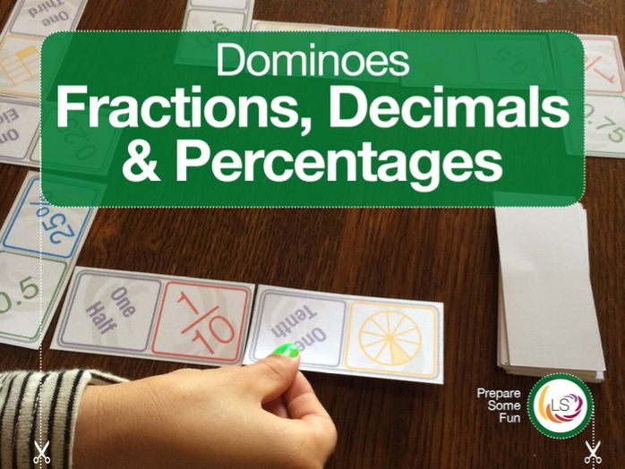 Fractominoes 2 |  Fraction Decimals and Percentages