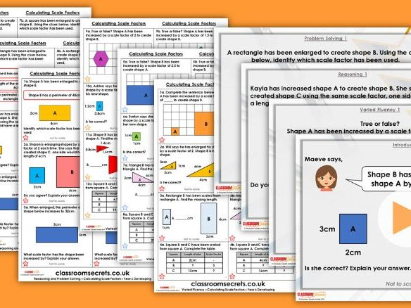 Year 6 Calculating Scale Factors Spring Block 6 Step 6 Maths Lesson Pack