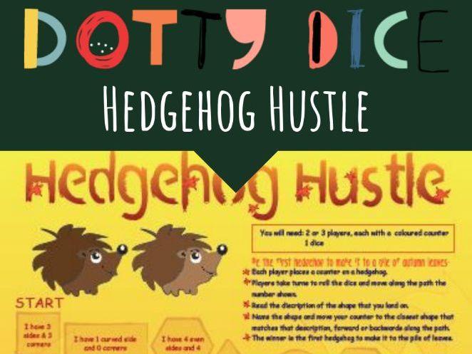 Geometry Board Game - Hedgehog Hustle - Describing Shapes