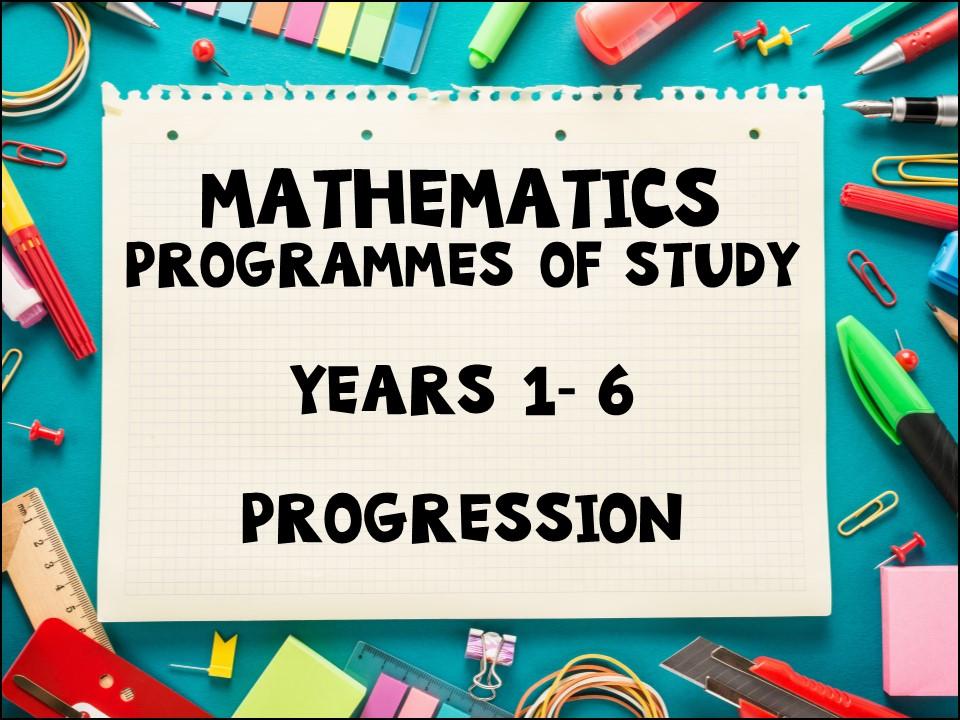 FREE: Maths Programmes of Study Years 1-6 Progression