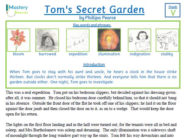 Tom's Secret Garden by Phillipa Pearce Comprehension KS2