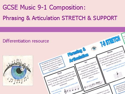 GCSE Music 9-1 Composition: Phrasing & Articulation Differentiation