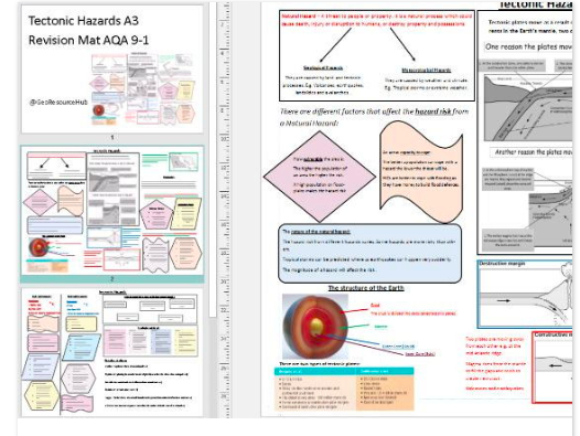 AQA 9-1 Geo Revision Bundle