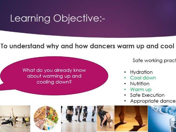 GCSE Dance - Safe working practice PowerPoints
