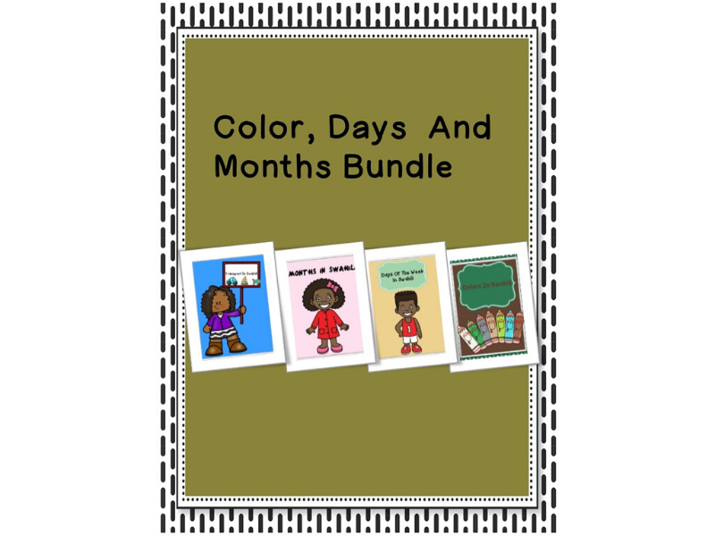 Colors,Days Of The Week And Months Of The Year Bundle