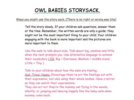 Owl babies planning ideas