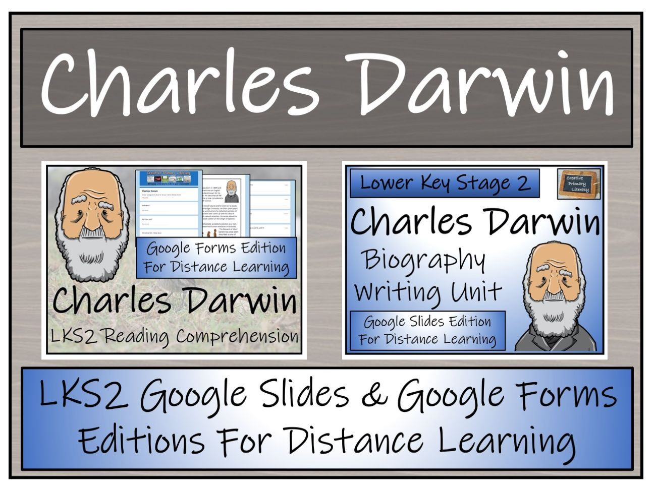 LKS2 Charles Darwin Biography & Reading Comprehension Distance Learning Bundle