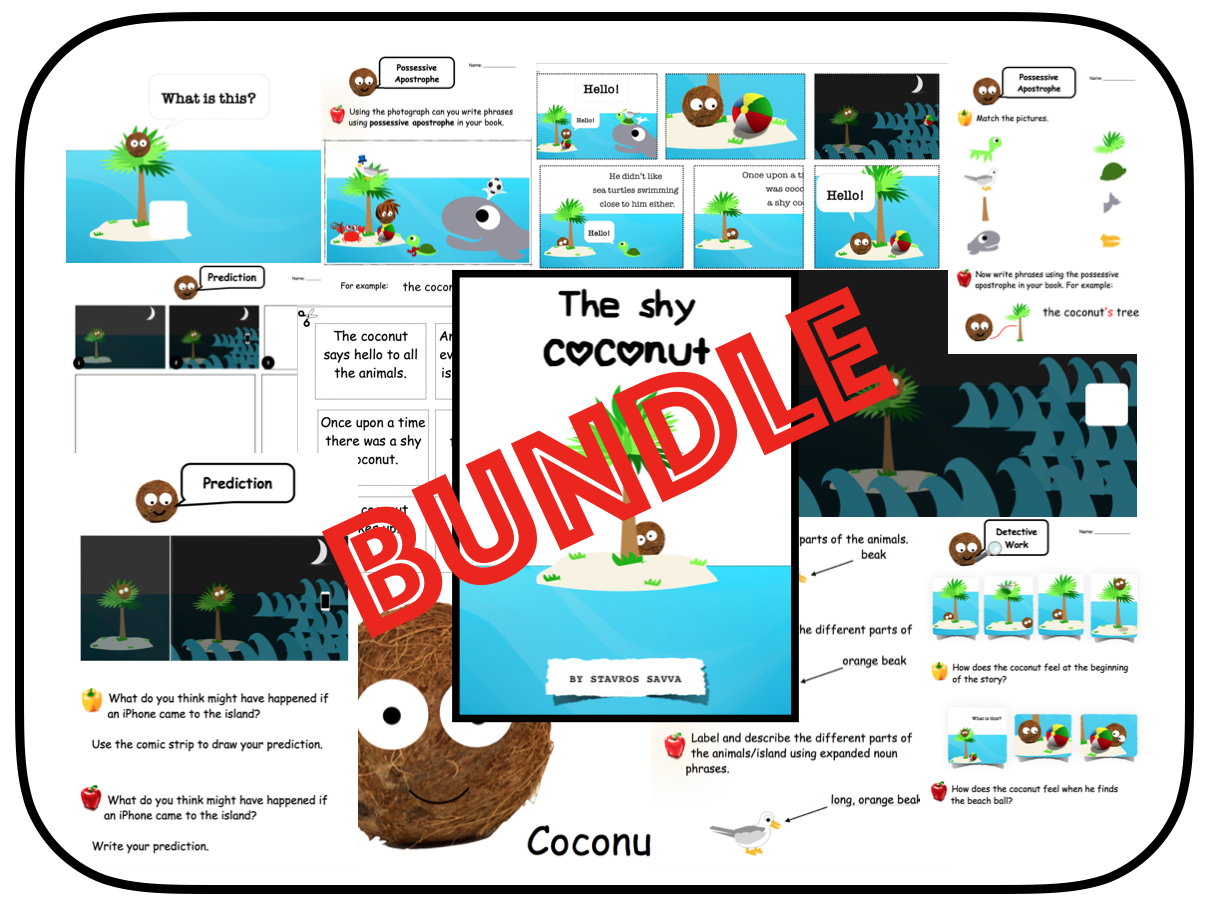 The Shy Coconut - Picture Book + Activities for KS1