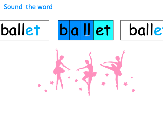 Phonics - 'et' as in ballet - Introduce and Teach