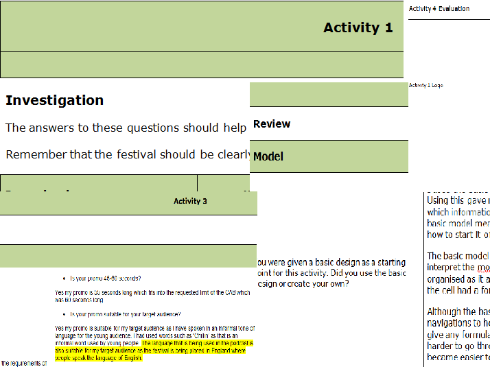 Need help with ideas for my I.C.T coursework?