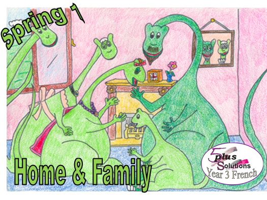 Primary French WHOLE LESSON: Leçon 2 To name family & friends (Home & Family)
