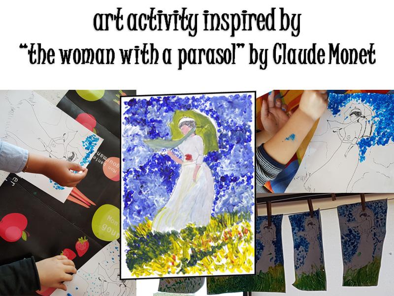 Impressionist painting activity Monet style