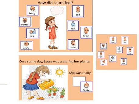 Feelings and Emotions (made up story activity) - How did Laura feel?