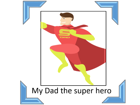 Father's Day poem Super Dad and six adjectives to describe my superhero