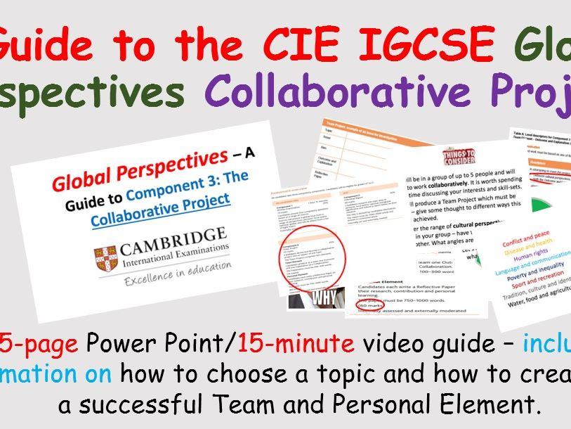 Global Perspectives Collaborative Project - IGCSE CIE Guide