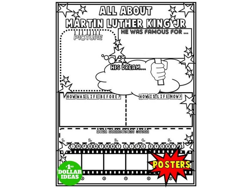 MARTIN LUTHER KING JR POSTER | ALL ABOUT MARTIN LUTHER KING JR | ML ACTIVITIES