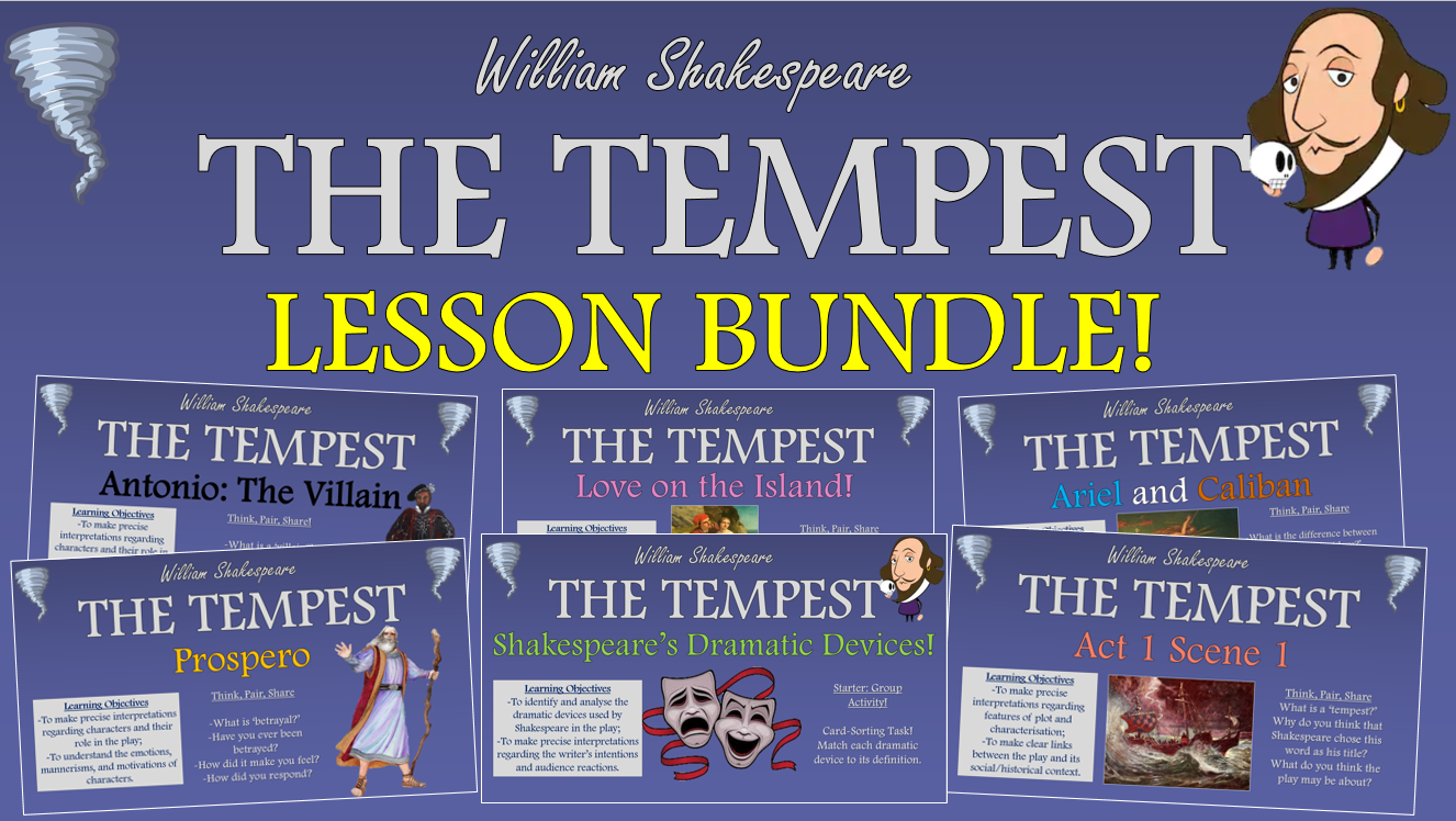The Tempest Lesson Bundle!