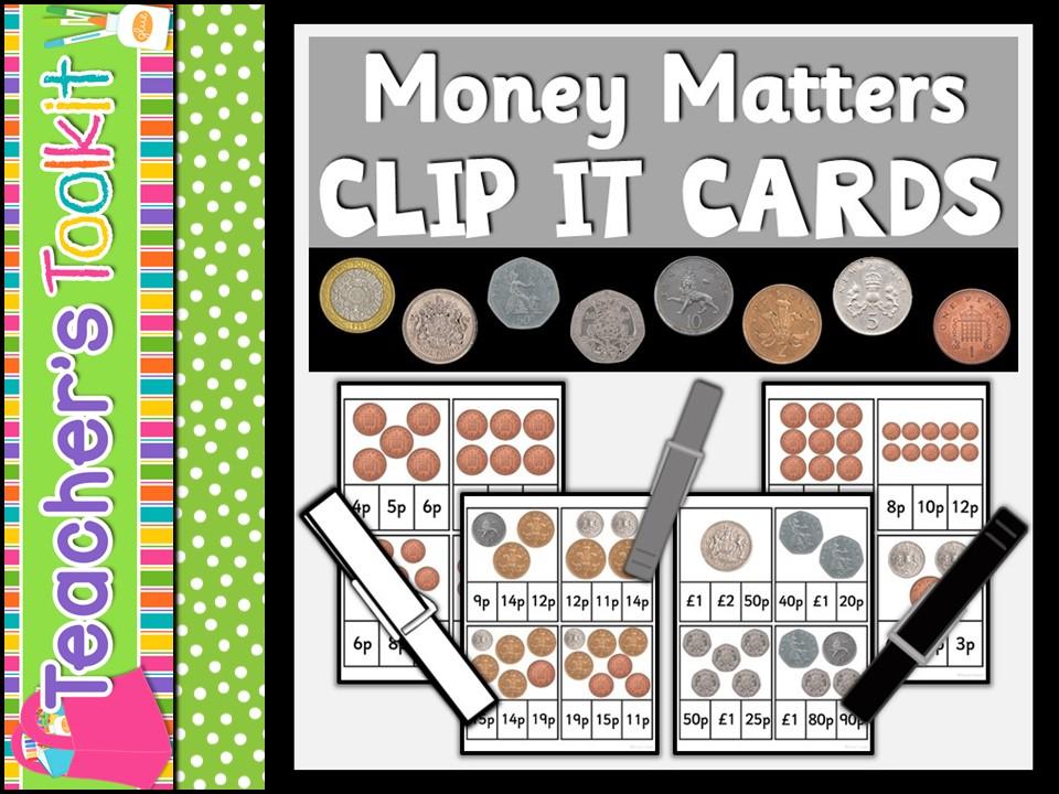Money Matters Clip It Cards