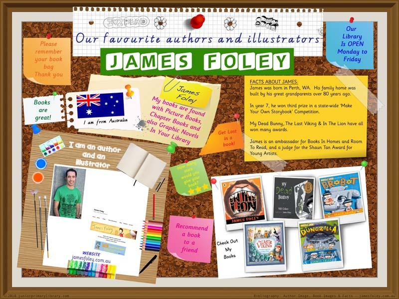 Library Poster - James Foley Australian Children's Author Illustrator